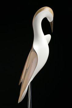 Kotuku • White Heron by Rex Homan, Māori artist (KR80307)