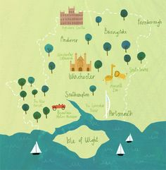Hampshire map - Becky Down Illustration