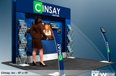New Cinsay booth design for tradeshows