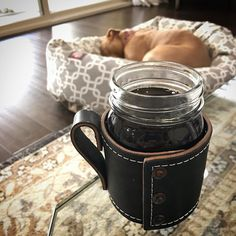 """""""These are a few of my favorite things."""" .  Having a phenomenal cup of coffee from @blackvelvetcoffee with #princessleilani sleeping near daddy waiting for my FAVORITE thing to get home: . My beautiful inspiring powerful loving and compassionate wife @sportsbrasandspice"""