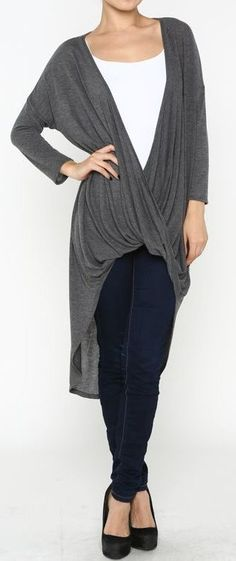 Tristen Drape Twist Top