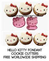 Hello kitty, Hello kitty cookie cutters, Hello kitty fondant cutters, Hello kitty embossers, free worldwide shipping
