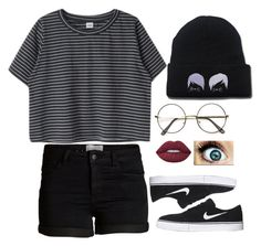 """Untitled #135"" by bringmxthxhorizon ❤ liked on Polyvore featuring Pieces, NIKE and Lime Crime"