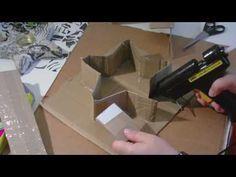 Beton giessen - DIY - stehenden Stern in einer selbst gemachten Pappform giessen/ - YouTube
