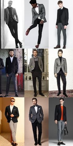 Men's Top 5 'Separates' Combinations: Black Jacket With Grey Trousers Lookbook Inspiration