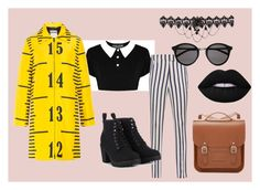 """""""Classy, fun, dark, different"""" by designme101 on Polyvore featuring Dondup, Call it SPRING, Yves Saint Laurent, Moschino, Lime Crime, The Cambridge Satchel Company, classic, fun, Dark and classy"""