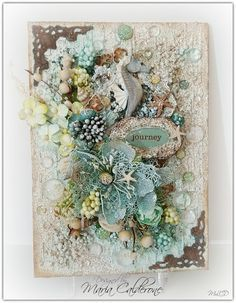 "Maria Lina's Creative Designs : ""Journey"" Canvas and Mixed Media Giveaway"