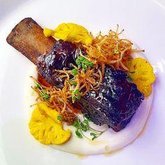 Glazed Beef Rib, Picallili, Cauliflower, Mustard Seed and Potato