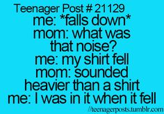 Haha! So something my family would say :) I'm from a funny family 8)