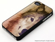 Wolf on Wood Texture Case for iPhone 4 4s iPhone 5 by boxyArts