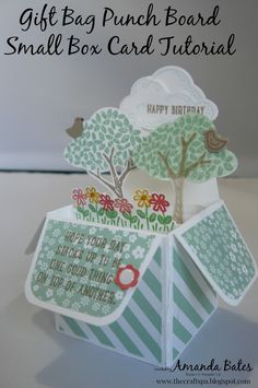 The Craft Spa - Stampin' Up! UK independent demonstrator : Gift Bag Punch Board Box Card Tutorial