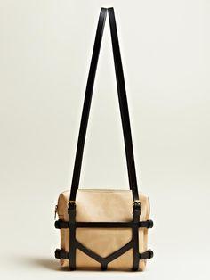 FLEET ILYA WOMEN'S HARNESSED BAG.  A hint of kink and a very demure beige.
