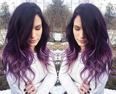 What Is Ombre Hair And Why Choose Ombre Hair? What Is Ombre Hair And Why Choose Ombre Hair? Wanna ligt up your life ?What Hair Color Should YoIvory bridal hair pins Wh Dark Purple Hair Color, Ombre Hair Color, Purple Tips, Black To Purple Ombre, Purple Dip Dye, Balayage Hair Purple, Purple Roses, Light Purple, Pink