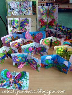 C'est sur le blog d'une collègue espagnole que j'ai trouvé ces magnifiques papillons prêts à s'envoler.Après avoir colorié leur papillon,...