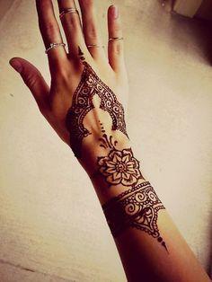 flower child henna tattoo henna design