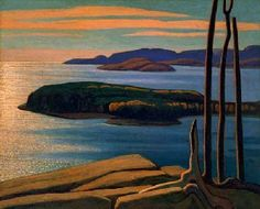 Afternoon Sun, Lake Superior - Lawren Harris, Canadian Group of Seven Tom Thomson, Canada Landscape, Landscape Art, Landscape Paintings, Abstract Paintings, Group Of Seven Artists, Group Of Seven Paintings, Emily Carr, Canadian Painters