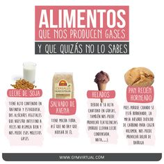 Alimentos gases