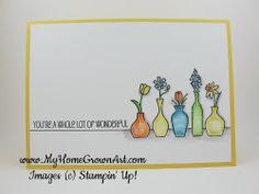 Stampin Up Vivid Vases - Occasions Catty sneak peek! - My Home Grown Art