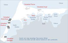 Karte Fischland-Darß-Zingst
