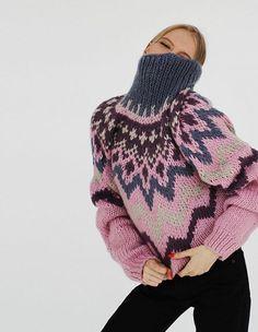 Knitwear Fashion, Knit Fashion, Nordic Sweater, Gray Sweater, Make Your Own Dress, Lana, Knit Crochet, Knitting, Upcycled Sweater