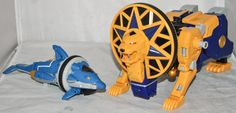 Power Rangers Ninja Storm - Lion & Dolphin Zords of Megazord Body Sections Only