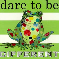 Dare to be Different Frog Canvas Art