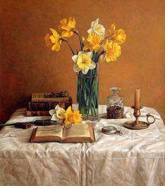 Daffodils in a Still Life by Antonio Capel