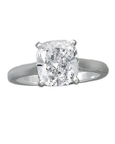 "Glossary of Engagement Ring Cuts: Cushion Cut -  a cross between a rectangle and an oval; it has a pillow shape, and it is also called an ""antique cut."""