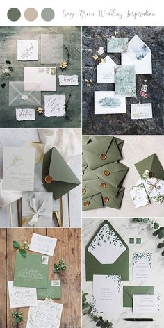 trending sage green wedding invitations for 2019