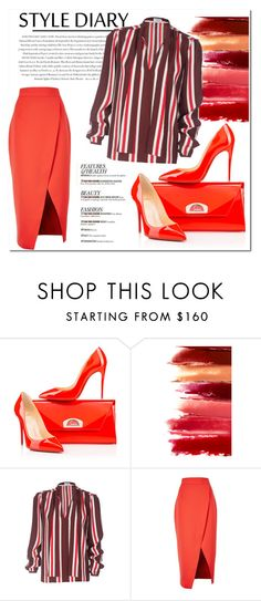 """""""Untitled #1051"""" by samha ❤ liked on Polyvore featuring Christian Louboutin, Envi, Frame Denim and C/MEO COLLECTIVE"""