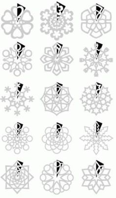 How to cut snowflakes. The surprise of not knowing how it's going to look is fun but this is cool if you really want to make intricate ones! by SLKelley