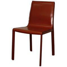 Gervin Recycled Leather Dining Chair, Cordovan - Harrington Galleries