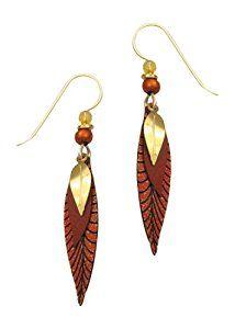 Amazon.com: Adajio by Sienna Sky 3-Part Rust Golden Leaves Earrings 7118: Jewelry