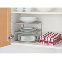 kitchen cabinet organization | Corner Kitchen Cabinet Organizer - organize in tiers
