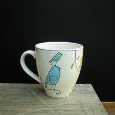 Adorable bird mug!