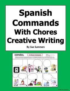 Spanish Commands and Chores Creative Writing Speech Bubble Worksheet