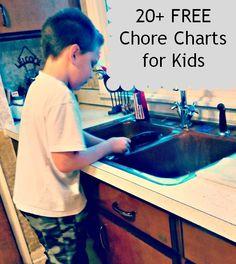 20  FREE Chore Charts for Kids   My Favorite Chore Chart