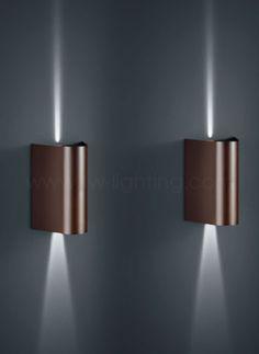 Baulmann Leuchten Led Up Down Wall Light Dark Bronze Finish 64 136 54