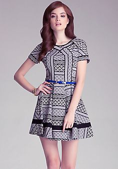Bebe | Jacquard Fit & Flare Dress - follow NYCathy01 for more styles