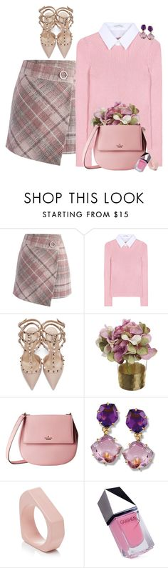 """""""Untitled #7161"""" by lisa-holt ❤ liked on Polyvore featuring Chicwish, Altuzarra, Valentino, Kate Spade, Marni and GUiSHEM"""