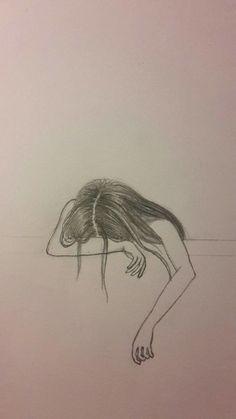 pencil sketches of sad girl pencil sketches sad girl - sketch drawing of girl Sad Sketches, Sad Drawings, Girl Drawing Sketches, Dark Art Drawings, Girly Drawings, Art Drawings Sketches Simple, Pencil Art Drawings, Girl Sketch, Sad Girl Art