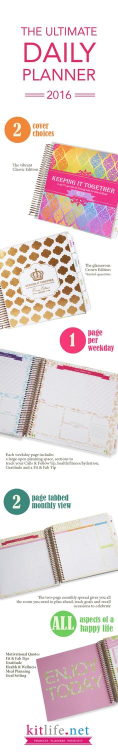 The BEST daily planner from http://kitlife.net