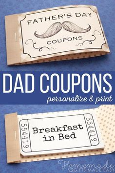 Personalized Fathers Day Coupons clever fathers day gifts, photo fathers day gifts, diy for dad gifts Personalized Gifts For Dad, Diy Gifts For Dad, Diy Father's Day Gifts, Father's Day Diy, Gifts For Family, Craft Gifts, Homemade Fathers Day Gifts, Easy Gifts, Handmade Father's Day Gifts
