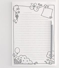 Freebie printable stationery! Design by Wendy de Boer