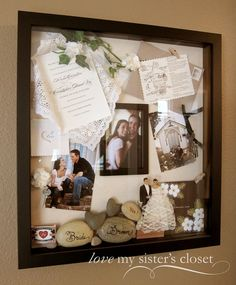 Art wedding shadow box shadow-boxes