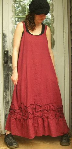 Sarah Clemens Clothing, Long Petal Slip Dress.