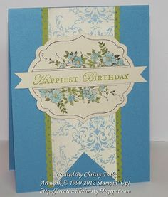 Stampin' Up! Apothecary Art Card, Christy Fulk, SU! Demo