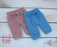 Crochet baby pants-knit baby pants-photo prop pants-choose your colors-newborn up to 3 months-baby gift