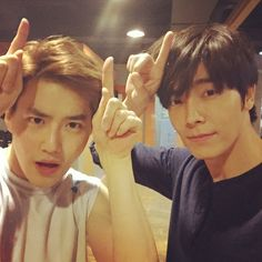 Donghae with EXO Suho ❤