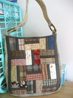 https://flic.kr/p/5Q74Hd | Patchwork bag | I made this bag for my third sister. It is very casual and able to put in lots of girl's things without any complain for no space at all.  My bag is 100% hand stitched too.